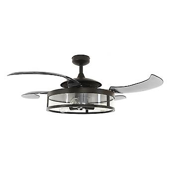 Retractable blade ceiling fan Fanaway Classic Black