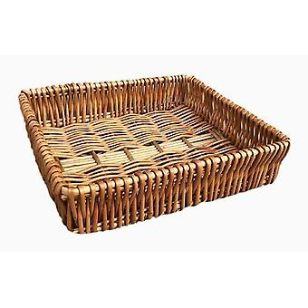 Large Shallow Wicker Tray