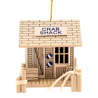 Træ Crab Shack kystnære 3 tommer Christmas Holiday Ornament