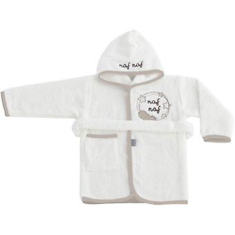 Naf Naf Bathrobe 100% Cotton Beige Dreams