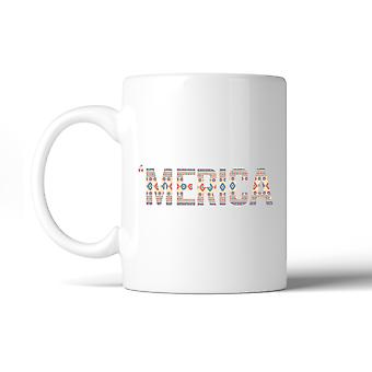 'Merica Cute Design Coffee Mug Unique Tribal Pattern Mug Gift Idea