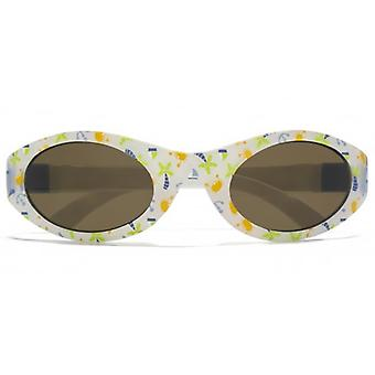 Monkey Monkey Childrens Oscar Boys Baby Wrap Sunglasses In White Print