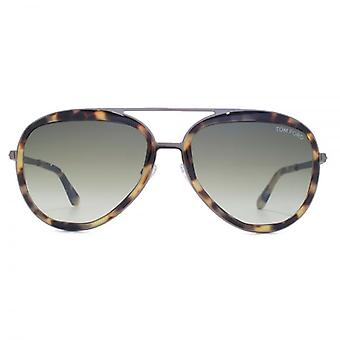 Tom Ford Andy Sunglasses In Blonde Havana
