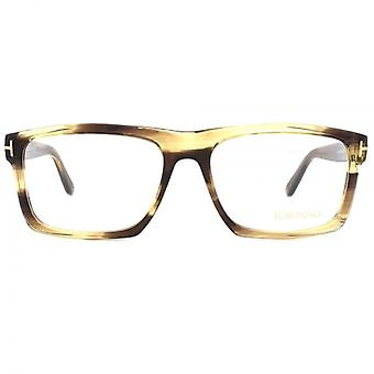 Tom Ford FT5434 Glasses In Shiny Dark Brown