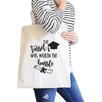 Tassel Worth The Hassle Canvas Bag Unique College Graduation Gift