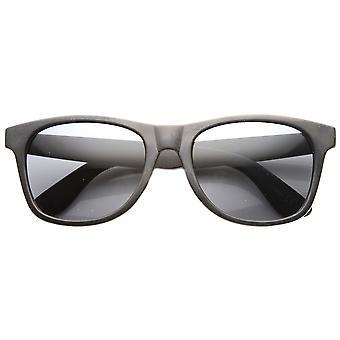 Retro para hombre con cuernos de plástico limpio clásico con montura gafas de sol