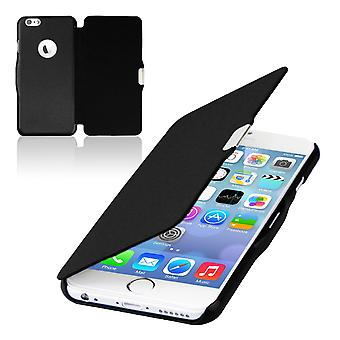 Inverter a capa luva capa de telefone caso Bookstyle para iPhone Apple 8 plus preto