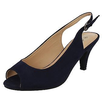 Kära Anne Michelle Peep Toe Sling tillbaka skor F10593