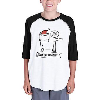 ميووي كاتماس سانتا القط قميص هدية عيد الميلاد لطيف بيضاء لسيدة القط