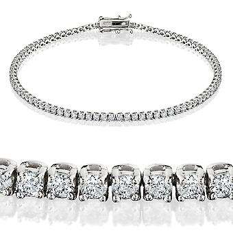 2ct Diamond Tennis Bracelet available in 18k White or Yellow Gold