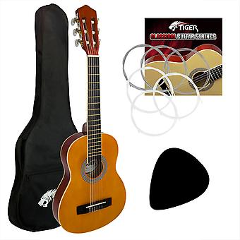 Tiger 3/4 Size Classical Spanish Guitar Beginners  Starter Kit