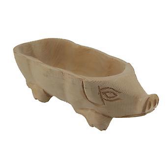 Decoratieve handgesneden natuurlijke hout middelpunt Bowl