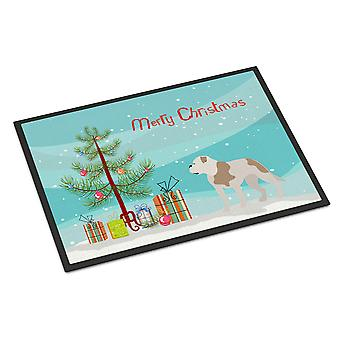 American Bulldog Christmas Indoor or Outdoor Mat 18x27