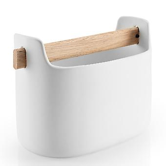 Eva solo tool box low white 15 cm ceramic with oak wood handle