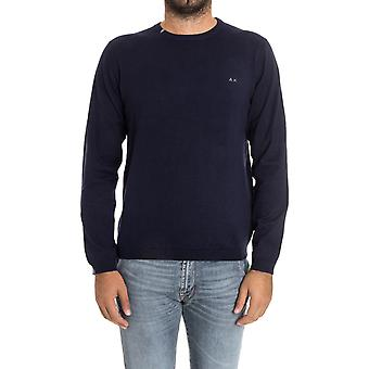 Sun 68 men's 2714707 blue cotton sweater