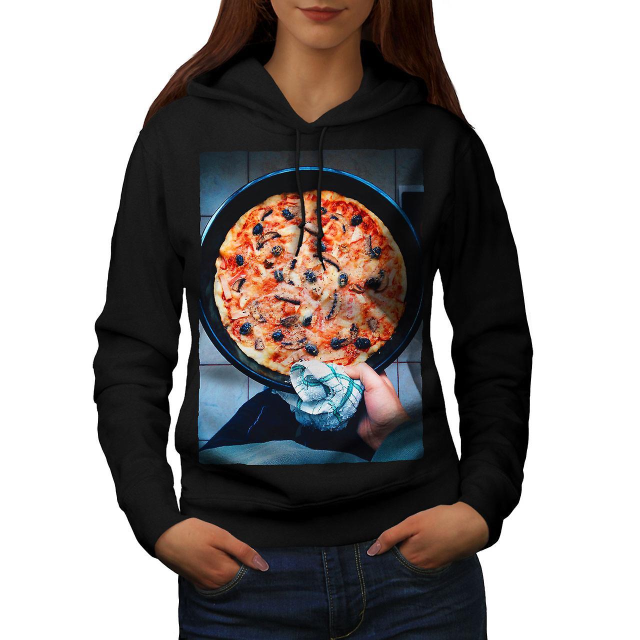 Pizza italienne Photo femmes noirHoodie