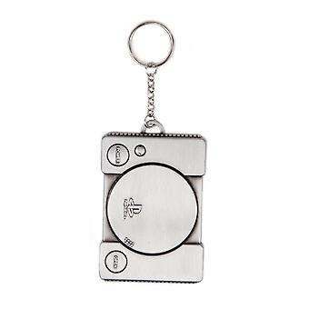 Playstation Keyring Keychain Console retro PS1 Metal new Official