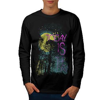 Aujourd'hui, c'est le jour horreur hommes noirLong Sleeve T-shirt   Wellcoda