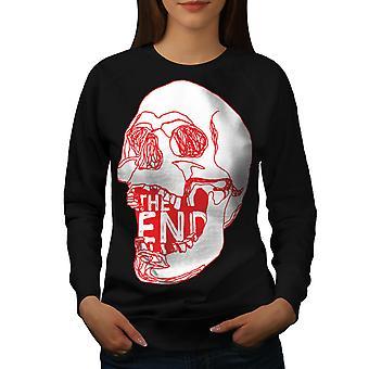 The end Metal Rock Women BlackSweatshirt | Wellcoda