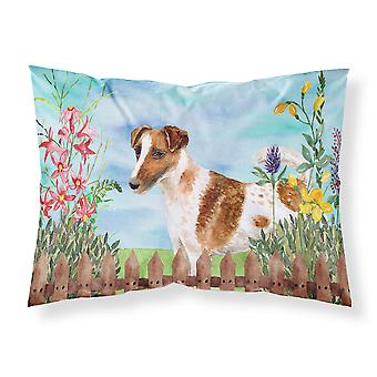 Smooth Fox Terrier Spring Fabric Standard Pillowcase