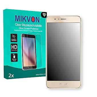 Huawei Honor 8 Screen Protector - Mikvon Clear (Retail Package with accessories) (intentionally smaller than the display due to its curved surface)