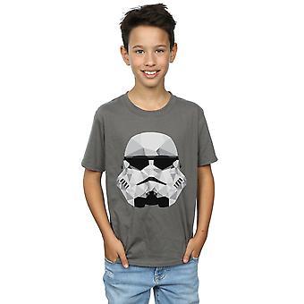 スター ・ ウォーズ男の子ストームトルーパー幾何学的ヘルメット t シャツ
