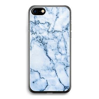 iPhone 7 transparentes Gehäuse (Soft) - blaue Murmel