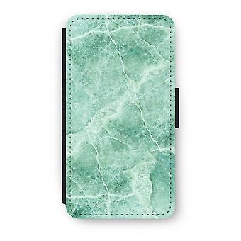 Samsung Galaxy S6 Edge Flip Case - groen marmer
