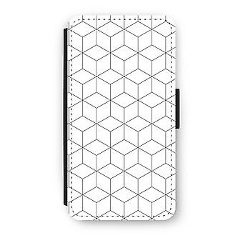 iPhone X Flip Case - Cubes black and white