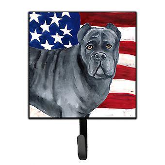 Carolines skatter BB9694SH4 Cane Corso patriotiska koppel eller nyckelhållare