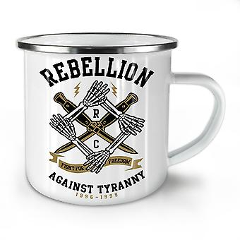 Rebellion Tyranny NEW WhiteTea Coffee Enamel Mug10 oz | Wellcoda