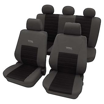 Sports Style Grey & Black Seat Cover set For Volkswagen Polo Saloon 2002-2009