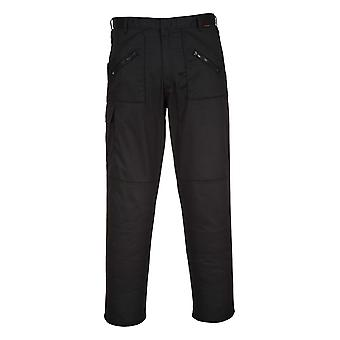 Portwest Action Trousers - Black Mens Work Pants Multiple Utility Pockets