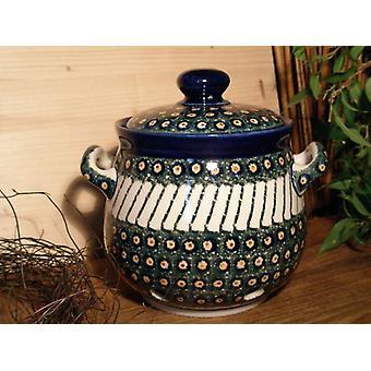 Hvidløg pot, 900 ml, højde 15 cm, 1 - traditionel polsk keramik - BSN 5280