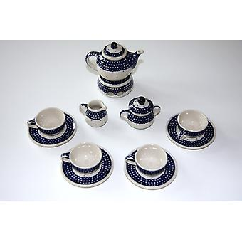 Doll service complete, 4 place settings, jug, warmer, milk, sugar, 18, BSN m-902