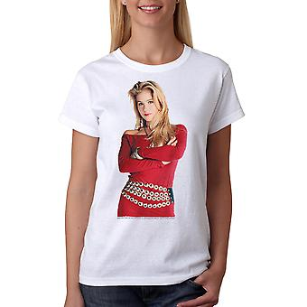 Married With Children Kelly Red Dress Women's White T-shirt