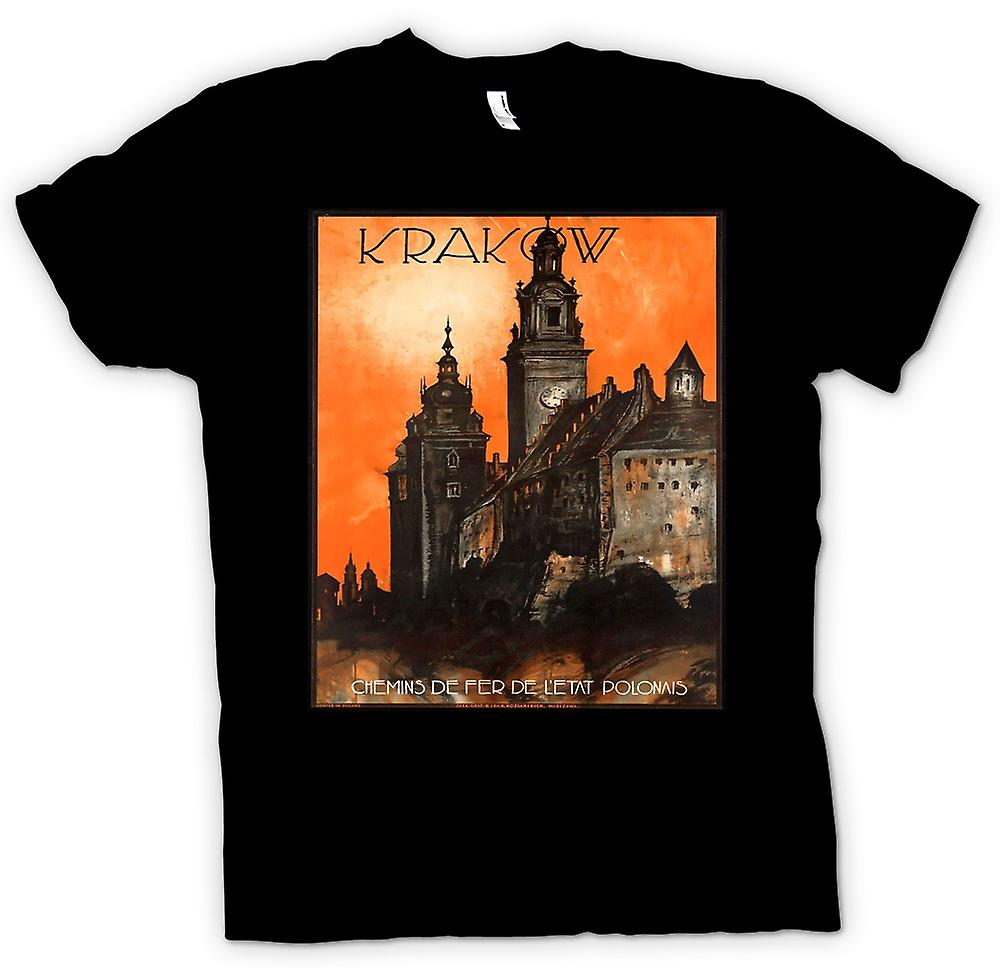 Mens T-shirt - Vintage Poster Of Krakow Poland