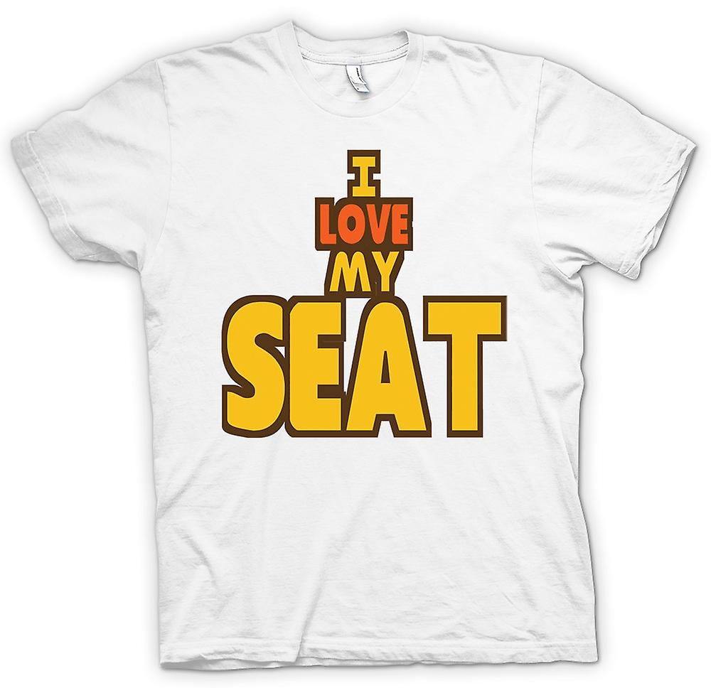 Mens t-shirt - I Love My Seat - appassionato di auto