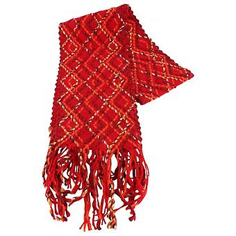 Bassin and Brown Hornbeam Textured Scarf  - Red/Orange