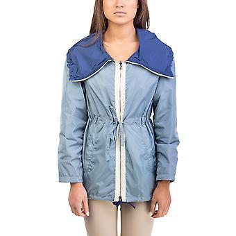 Nylon chaleco Reversible azul Prada mujer