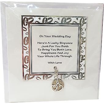 Craftilydunn Sixpence Wedding Card