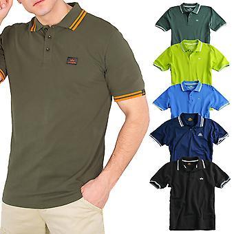 Industrias alfa camisa de polo doble raya Polo II