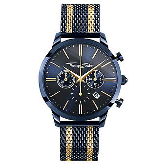 Thomas Sabo Mens Rebel Spirit Chronograph | Steel mesh Strap | PVD Case WA0290-286-209-42