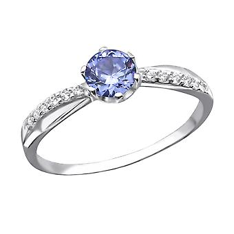 Round - 925 Sterling Silver Jewelled Rings - W27937X