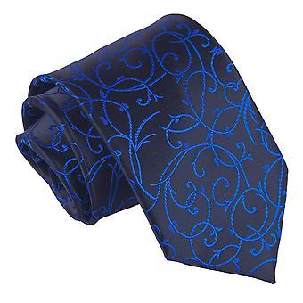 Black & Blue Swirl Classic Tie