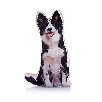 Adorable border collie shaped midi cushion