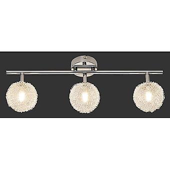 Trio Lighting Wire Modern Chrome Metal Spot
