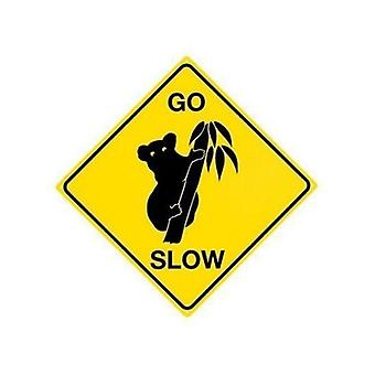 Koala ''''Go Slow'''' Steel Sign