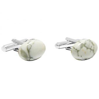 Gemshine - gemelos - plata 925 - Ho - blanco 16 mm - gris-
