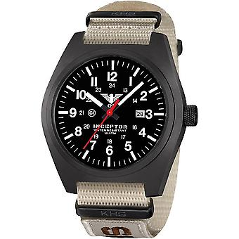 KHS acero interceptor negro reloj de KHS. INCBS. NXTLT5
